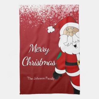 Glückliche frohe Weihnachten Sankt