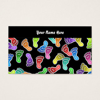 Glückliche Füße der Tapeten-, Ihr Name hier Visitenkarte
