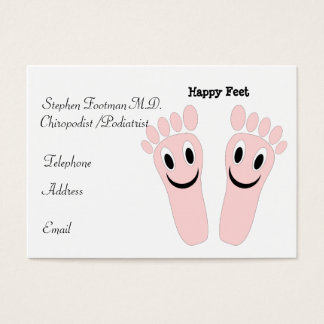 Glückliche Füße Fußpfleger-Visitenkarte- Visitenkarte