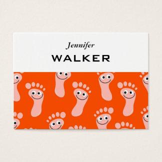 Glückliche Füße Tapeten- Visitenkarte