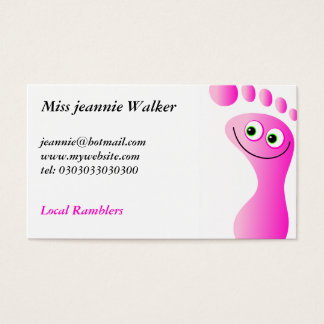 Glückliche Füße Visitenkarte