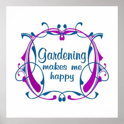 Glückliche Gartenarbeit Poster