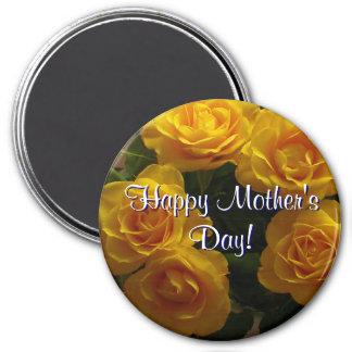 Glückliche Gelb-Rosen der Mutter Tages Kühlschrankmagnet