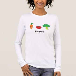Glückliche Gemüsefreunde Langarm T-Shirt