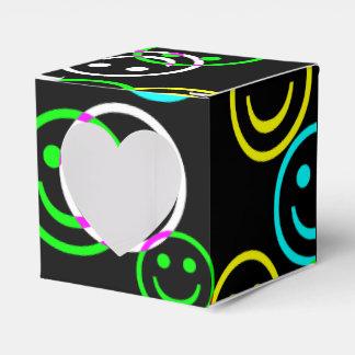 Glückliche Gesichts-Collagen-NeonGeschenkboxen Geschenkschachtel