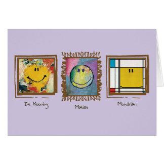 glückliche Gesichtskarte der großen Künstler Karte