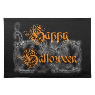 Glückliche gespenstische weiße Rollen Halloweens Tischset