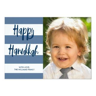 Glückliche gestreifte Feiertags-Karte Chanukkas 12,7 X 17,8 Cm Einladungskarte