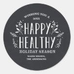 Glückliche gesunde Geschenk-Umbau-Aufkleber des