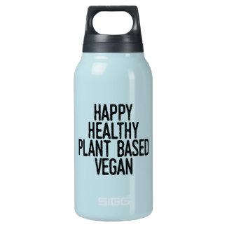 Glückliche gesunde Pflanze basierte veganes Isolierte Flasche