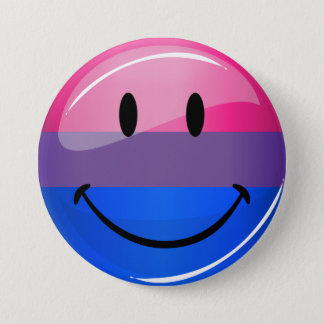 Glückliche glatte Bisexuality-Stolz-Flagge Runder Button 7,6 Cm