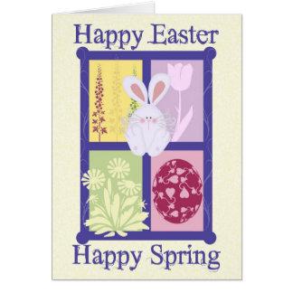 Glückliche glückliche Frühlings-Karte Ostern Grußkarte