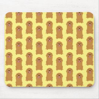 Glückliche golden retriever-Illustration Mousepad