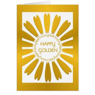 Glückliche goldene Geburtstags-Karte Karte
