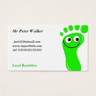 Glückliche grüne Füße Visitenkarte