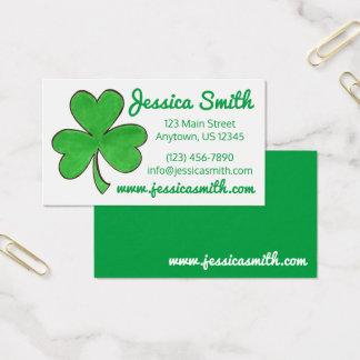 Glückliche grüne irische visitenkarte
