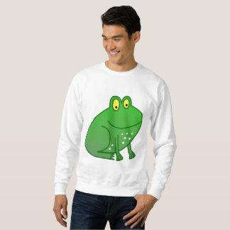 Glückliche grüner Frosch-lange Sweatshirt