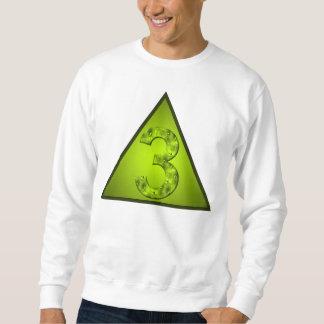 Glückliche grünes Dreieck-Shirt der Nr.-drei Sweatshirt