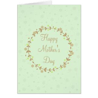 Glückliche Gruß-Karte der Mutter Tages Karte