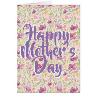 Glückliche Gruß-mit Blumenkarte der Mutter Karte