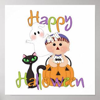 Glückliche Halloween-Baby-Freunde Poster