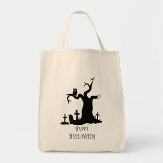 Glückliche Halloween-Baum-Tasche Einkaufstasche