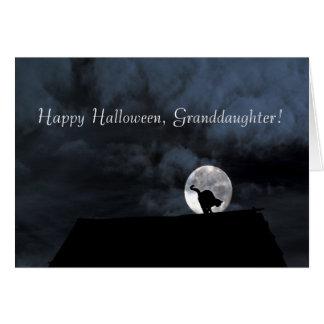 Glückliche Halloween-Enkelin-Karte Karte