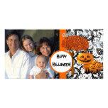 Glückliche Halloween-Foto-Karte Individuelle Foto Karten