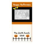 Glückliche Halloween-Gruß-Foto-Karte Personalisierte Foto Karte
