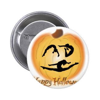 Glückliche Halloween-Gymnastik Runder Button 5,1 Cm