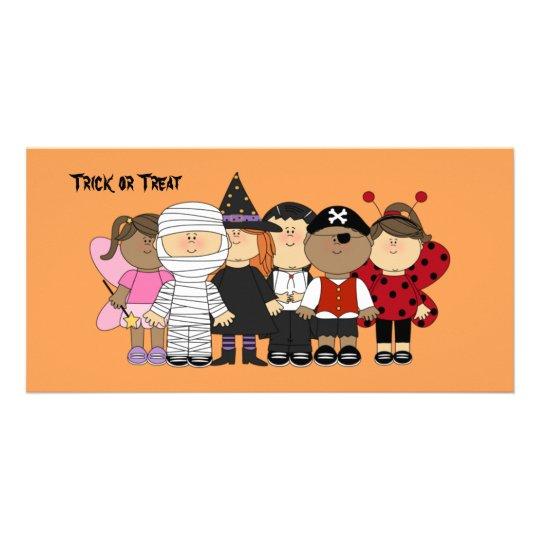 Glückliche Halloween-Kinder Photo Karte