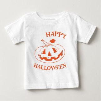 Glückliche Halloween-Kürbislaterne Baby T-shirt