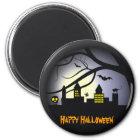 Glückliche Halloween-Magneten Runder Magnet 5,1 Cm
