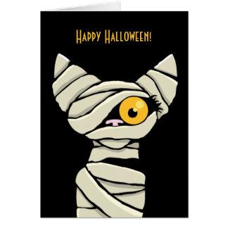 Glückliche Halloween-Mama-Katze Karte