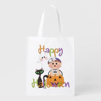 Glückliche Halloween-Party-Freunde Wiederverwendbare Einkaufstasche