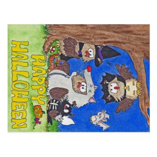 GLÜCKLICHE HALLOWEEN-Postkarte durch Nicole Janes Postkarte