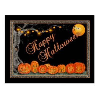 Glückliche Halloween-Postkarte Postkarte
