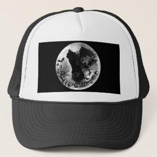 Glückliche Halloween-Schläger-Katzen-Baseballmütze Truckerkappe