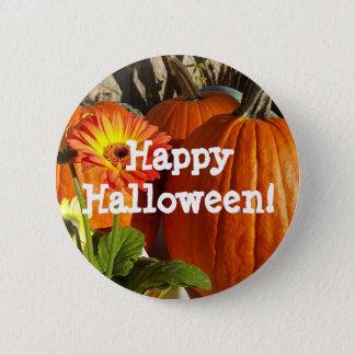Glückliche Halloween-Sonnenblume und Kürbis-Knopf Runder Button 5,1 Cm