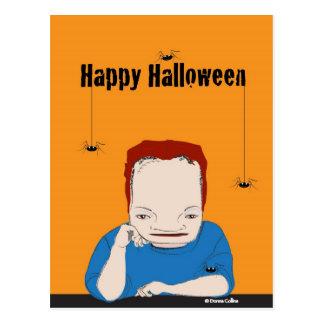 Glückliche Halloween-Spinnen Postkarte