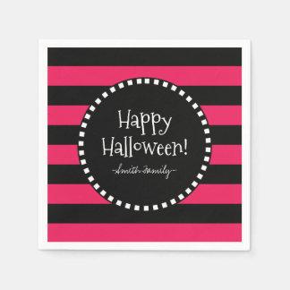 Glückliche Halloween-Streifen Serviette