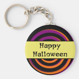 Glückliche Halloween-Strudel-Süßigkeit Keychain Schlüsselanhänger