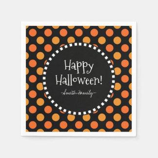 Glückliche Halloween-Tupfen Papierserviette