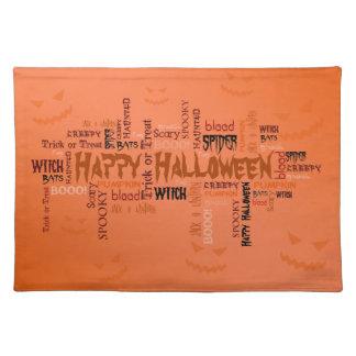 Glückliche Halloween-Typografie - Tischset
