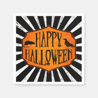 Glückliche Halloweenraben-u. Papierservietten