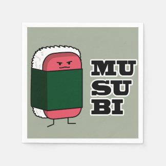 Glückliche hawaiische Musubi Spam-Sushi Nori Papierserviette