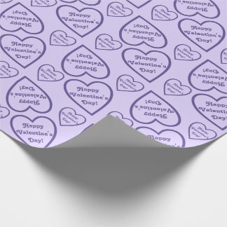 Glückliche Herz-Konturen des Valentines Tagesin Geschenkpapier