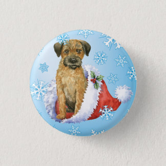 Glückliche Howliday Grenze Terrier Runder Button 2,5 Cm