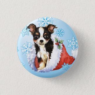 Glückliche Howliday lange Mantel-Chihuahua Runder Button 3,2 Cm