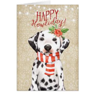 Glückliche Howliday Weihnachtskarte dalmation Karte